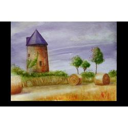 Moisson au moulin - Oeuvre nue